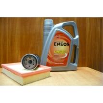 szervíz csomag szett olajcsere készlet Swift 2005-2010 1.3-1.5 benzin,  Eneos 10W40 4l.+ szűrők