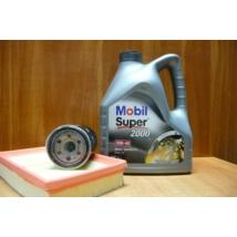 szervíz csomag szett olajcsere készlet Swift 2005-2010 1.3-1.5 benzin,  Mobil 10W40 4l.+ szűrők