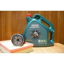 szervíz csomag szett olajcsere készlet Swift 2005-2010 1.3-1.5 benzin,  Castrol 10W40 4l.+ szűrők