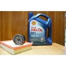 szervíz csomag szett olajcsere készlet Swift 2005-2010 1.3-1.5 benzin,  Shell 10W40 4l.+ szűrők