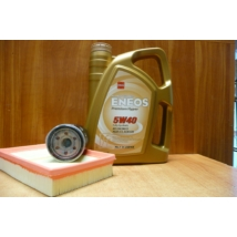 szervíz csomag szett olajcsere készlet Swift 2005-2010 1.3-1.5 benzin,  Eneos 5W40 4l. olaj + szűrők