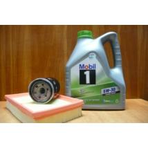 szervíz csomag szett olajcsere készlet Swift 2005-2010 1.3-1.5 benzin, Mobil 5W30 4l.+ szűrők