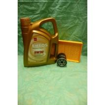 szervíz csomag szett olajcsere készlet Ignis, Wagon-R benzin, Eneos 5W30 4l.olaj+szűrők