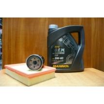 szervíz csomag szett olajcsere készlet Ignis, Wagon-R benzin, Mannol 5W40 4l.+ szűrők