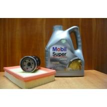 szervíz csomag szett olajcsere készlet Ignis, Wagon-R benzin, Mobil 5W40 4l.+ szűrők