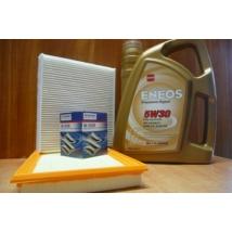 szervíz csomag szett olajcsere készlet Vitara 2015- 1.6, S-Cross 2015- 1.6, : Eneos  5W30 4l.+ gyári olajszűrő + levegő + pollen