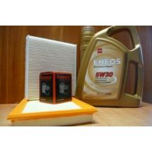 szervíz csomag szett olajcsere készlet Vitara 2015- 1.6, S-Cross 2015- 1.6, : Eneos  5W30 4l.+ olajszűrő + levegő + pollen