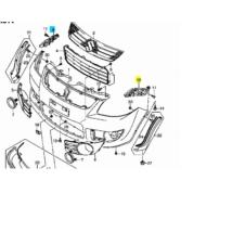 lökhárító tartó SX4 első bal, 71732-79J00, utgy.