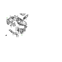 fényszóró keret ,lámpa tartó lemez jobb Maruti 800, 58110-84300