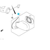 tükör külső Ignis jobb (manuális) 84701-86G70-5PK