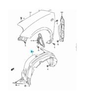 SX4 doblemez betét első bal (műanyag) 72322-79J00