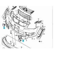 ködlámpa takaró SX4  betét karika 71753-79J00-5PK