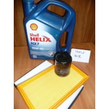 szervíz csomag szett olajcsere készlet Ignis, Wagon-R (Shell 10W40 4l.+ olajszűrő + levegőszűrő + pollenszűrő,  ( motorolaj)