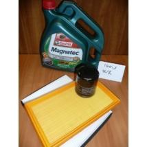 szervíz csomag szett olajcsere készlet Ignis, Wagon-R (Casrtol 10W40  4l. + pollen, levegő, olajszűrő)
