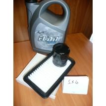szervíz csomag szett olajcsere készlet SX4 : Record 10W40 4l.+ olajszűrő + levegőszűrő + pollenszűrő,  (olaj, motorolaj)