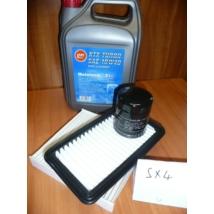 szervíz csomag szett olajcsere készlet SX4 : Alco 10W40 5l.+ olajszűrő + levegőszűrő + pollenszűrő,  (olaj, motorolaj)