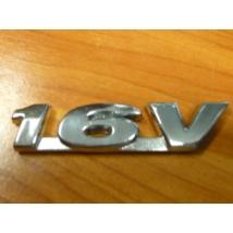 """felirat, embléma """"16V"""" öntapadós, fém"""