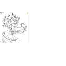 lökhárító ív első bal díszléc, díszcsík SX4,  71780-79J00-5PK