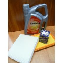 szervíz csomag szett olajcsere készlet SX4  Eneos 10W40 4l.+ olajszűrő + levegő + pollen,  (olaj, motorolaj)