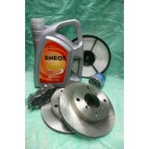 szervíz csomag szett olajcsere készlet Swift 1997-től (8V) (Bosch rendszerű fékbetéttel, Eneos)
