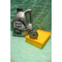 szervíz csomag szett olajcsere készlet Wagon-R  (Mobil 10W40 4l. olaj + levegőszűrő + olajszűrő)