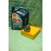 szervíz csomag szett olajcsere készlet Wagon-R  (Shell 10W40 4l. olaj + levegőszűrő + olajszűrő)