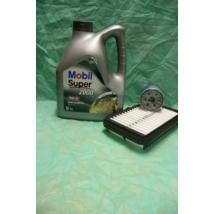 szervíz csomag szett olajcsere készlet Alto 1.1 2002-2006  (Mobil 10W40 4l. olaj + levegőszűrő + olajszűrő)