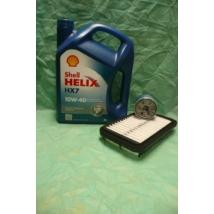 szervíz csomag szett olajcsere készlet Alto 1.1 2002-2006  (Shell 10W40 4l. olaj + levegőszűrő + olajszűrő)