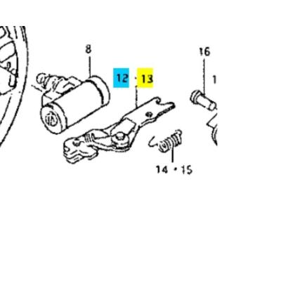 önbeálló hátsó fékpofához Maruti  (bal) 53702-84010