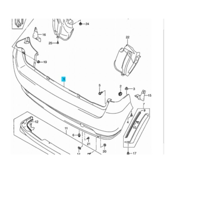 lökhárító hátsó Ignis 71811-86G00-799