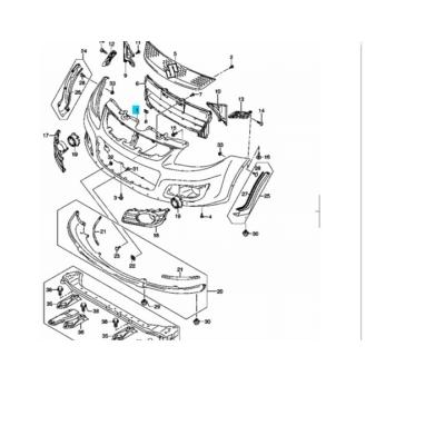 SX4 első lökhárító alatti koptató díszléc, spoiler 71760-79J00