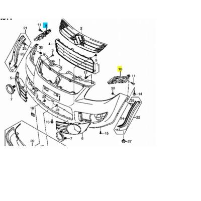 lökhárító tartó SX4 első bal, 71732-79J00, gyári