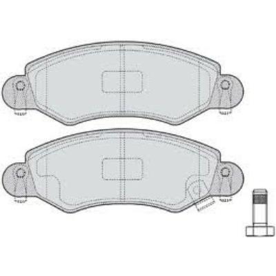 fékbetét Wagon-R régi garnitúra (55810-83E00,  -2001ig)