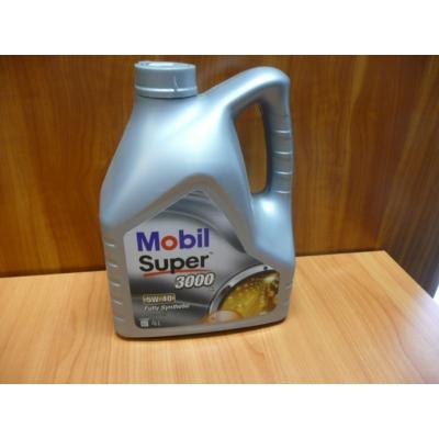 olaj motorba 5W40 Mobil Super 3000 4 literes,  olaj, motorolaj