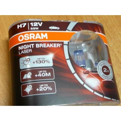 H7 izzó Osram Night Breaker Laser +130%, párban  64210NBL