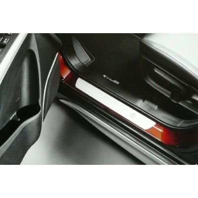 ajtóvédő, küszöbvédő díszléc, díszcsík  S-Cross  990E0-61M60-001, alumínium, S logóval   (4 db-os szett)