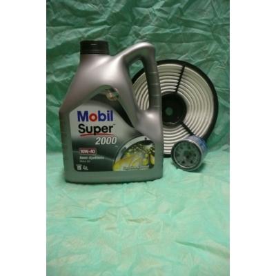 szervíz csomag szett olajcsere készlet Swift 1.0, 1.3 (8V) 2003-ig: Mobil 10W40 4l. olaj + olajszűrő + levegőszűrő