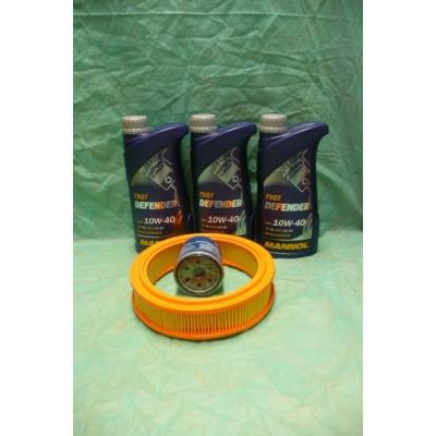 szervíz csomag szett olajcsere készlet Maruti 800 (Mannol 10w40 3x1L olaj +  olajszűrő, levegőszűrő)