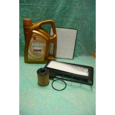 szervíz csomag szett olajcsere készlet Ignis, Wagon-R , Eneos 5W40 4l. + olajszűrő + levegő + pollen, (1.3 dieselekhez!!!)